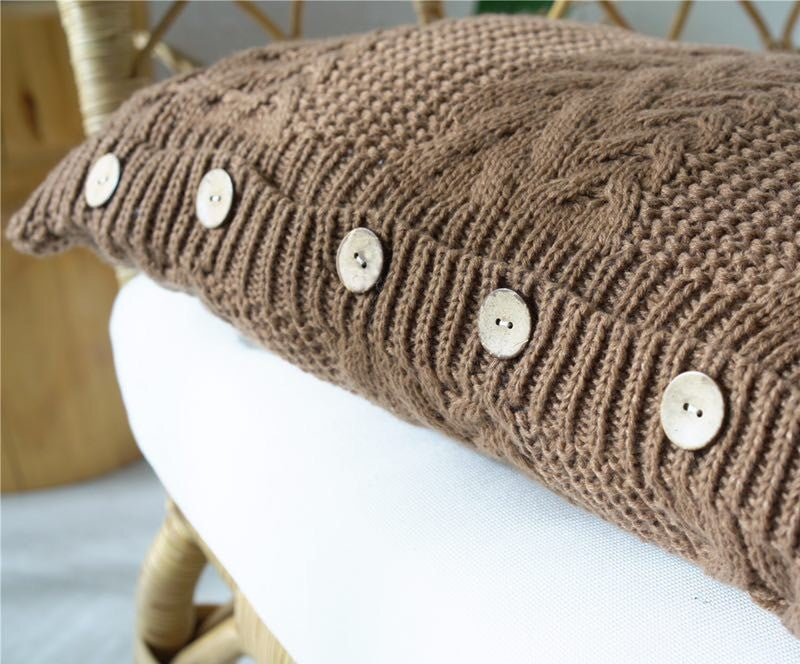 Load Image Into Gallery Viewer Hand Knitted Cable Knit Pillow Set 14quot X 25quot