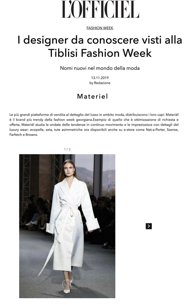 I designer da conoscere visti alla Tiblisi Fashion Week