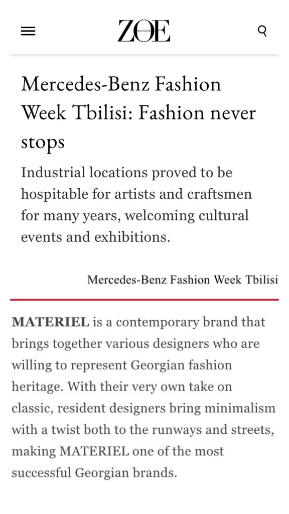 Mercedes-Benz Fashion Week Tbilisi: Fashion never stops