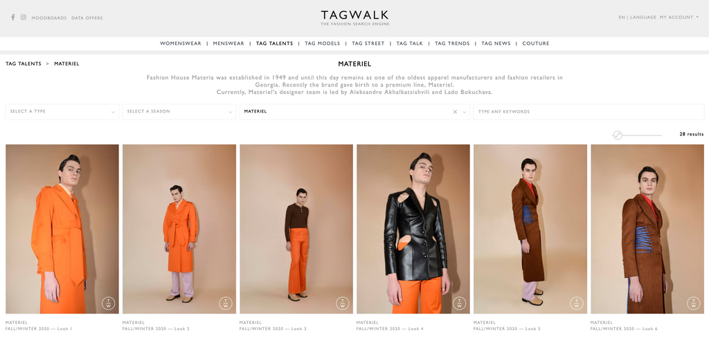 MATERIEL ON TAGWALK