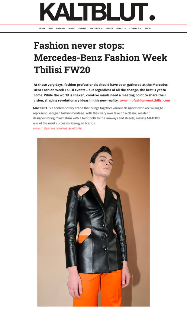 Fashion never stops: Mercedes-Benz Fashion Week Tbilisi FW20