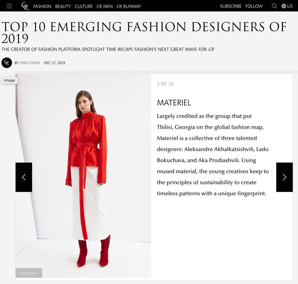 TOP 10 EMERGING FASHION DESIGNERS OF 2019