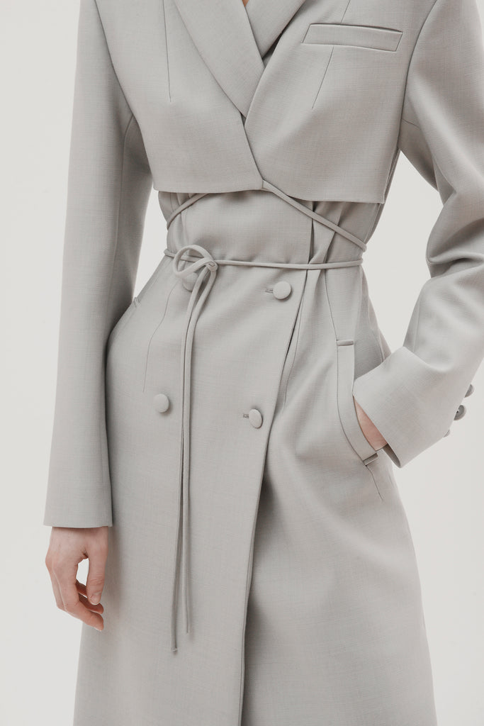 Fitted coat w/overlayer - Materiel