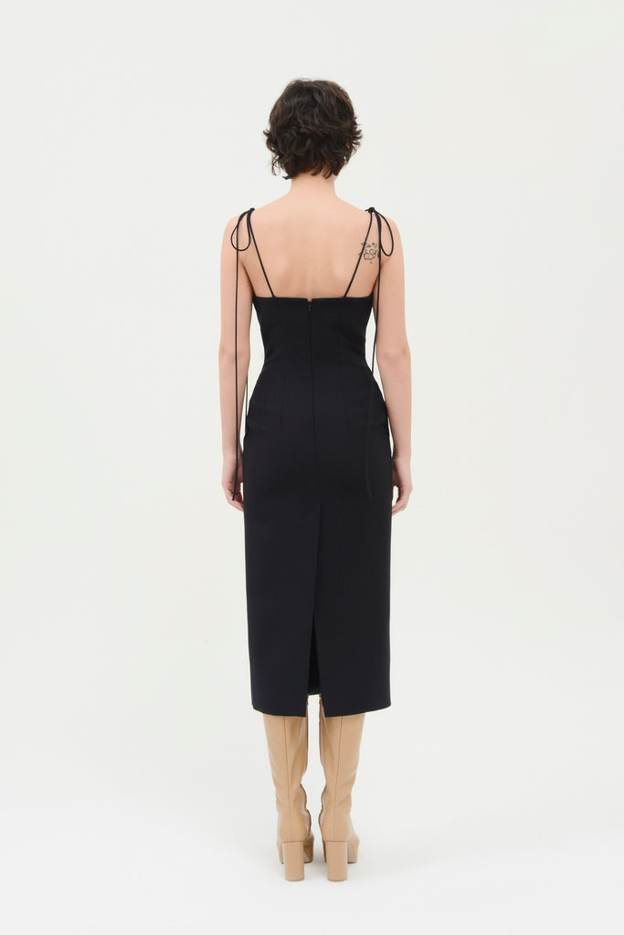 Fitted Strappy dress w/pockets - Materiel