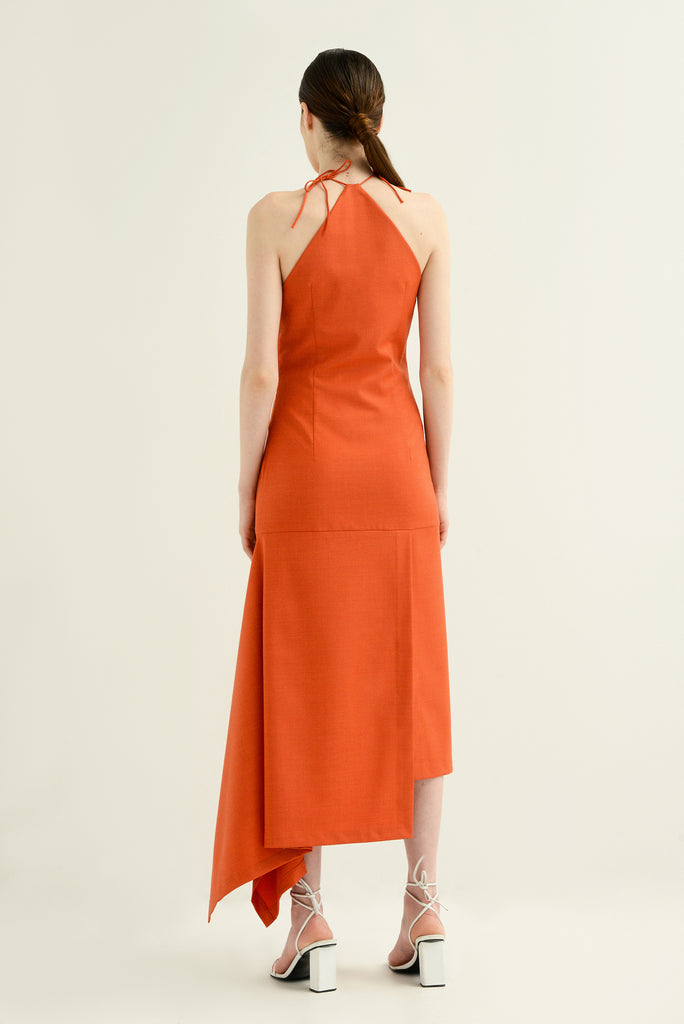 Wool halter dress - Materiel