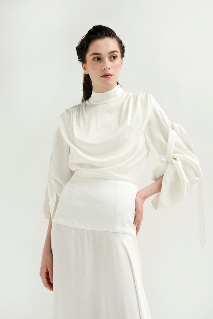 Turtleneck dress w/ asymmetrical hem - Materiel