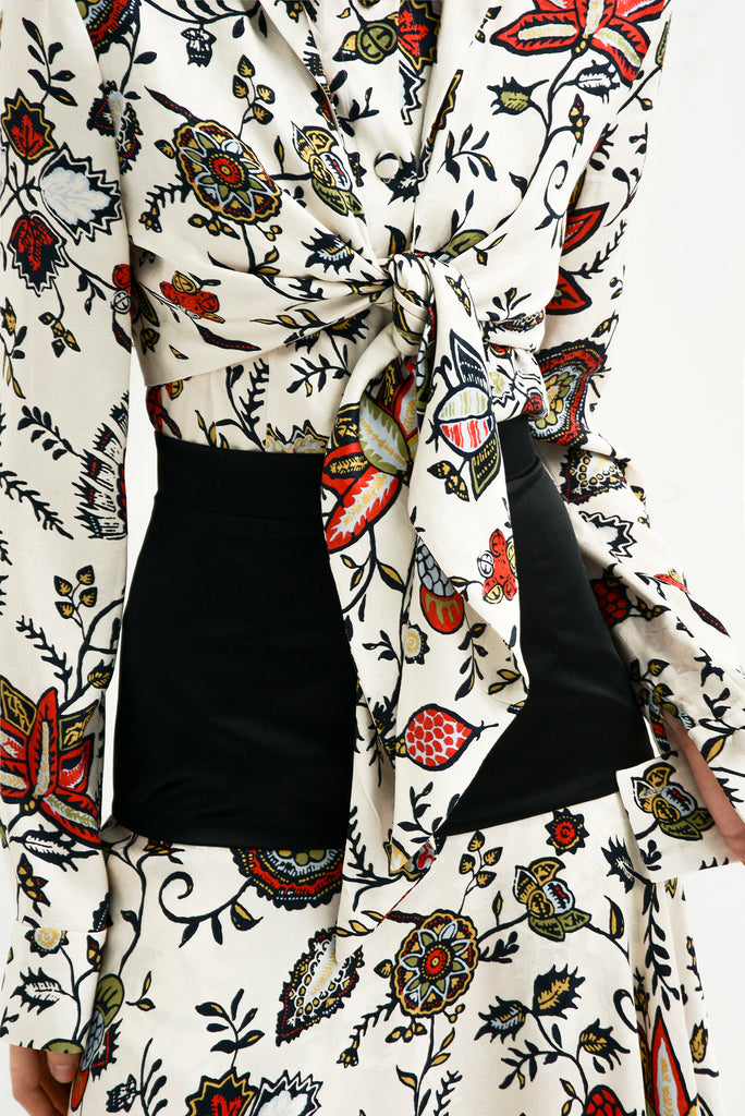 Floral blouse w/extra layer - Materiel