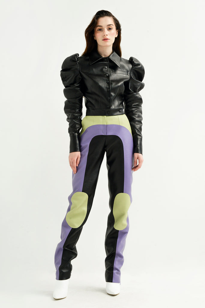 Multi faux leather pants - Materiel