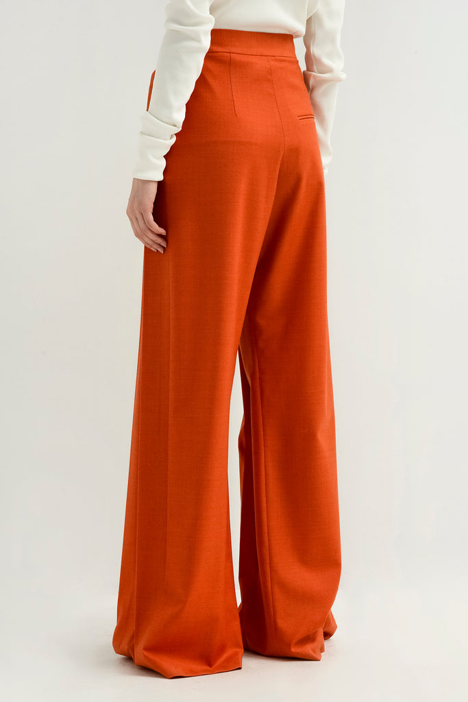 Wool pleated pants - Materiel