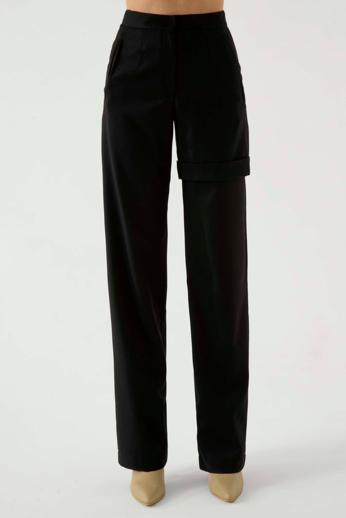 Straight pants w/ leg detail - Materiel