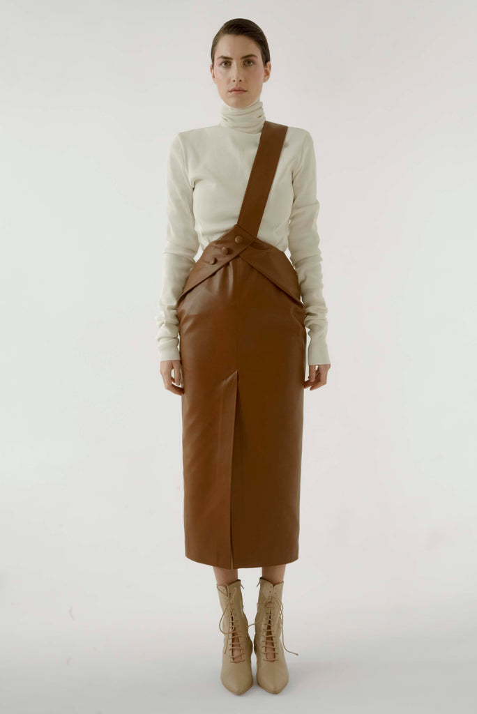 LEATHER OVERALL DRESS - Materiel