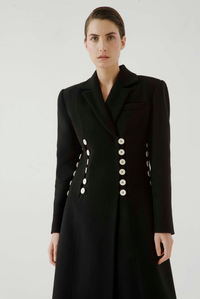 Long coat w/ buttons - Materiel