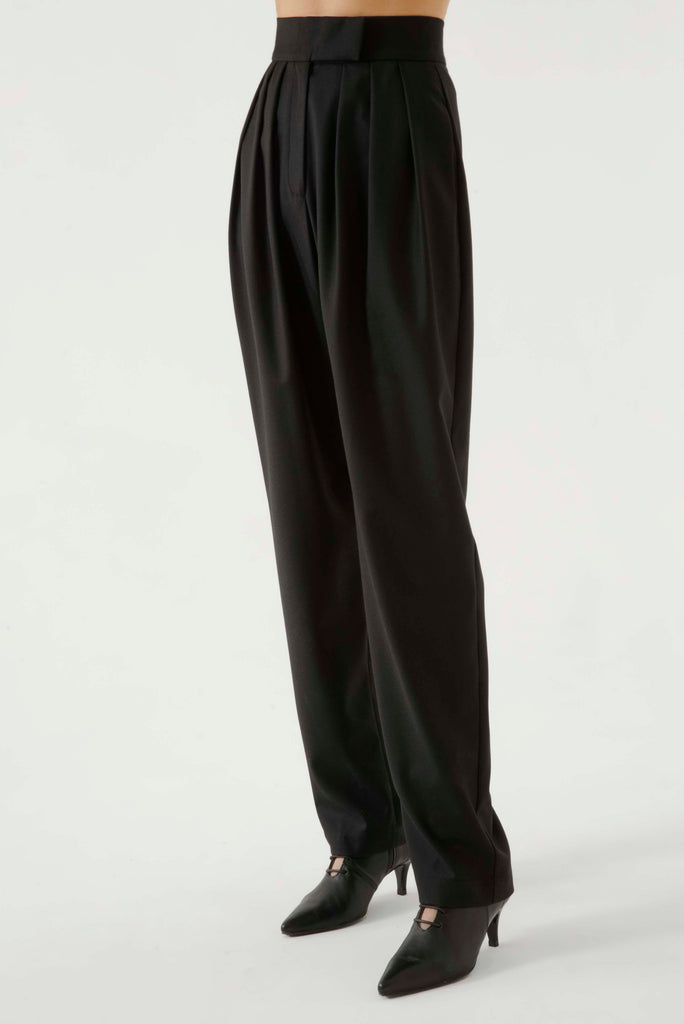 HIGH WAIST PLEATED PANTS - Materiel