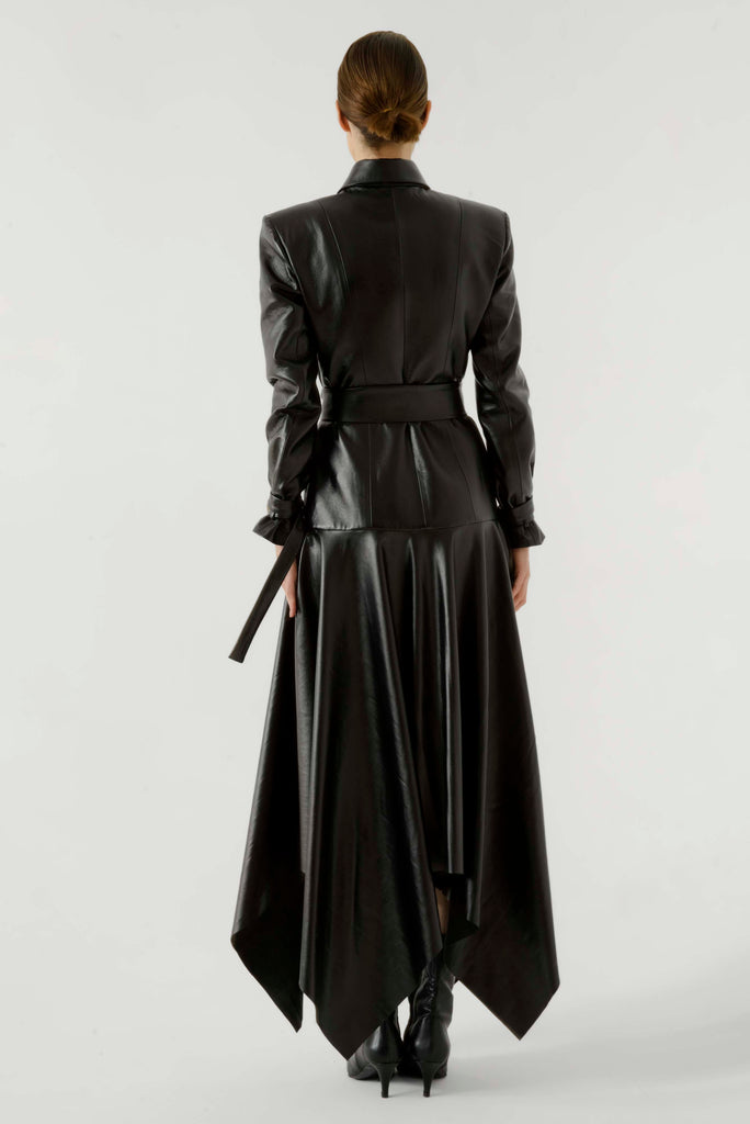 Leather overcoat dress - Materiel
