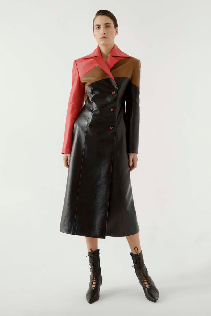 Multi leather coat - Materiel