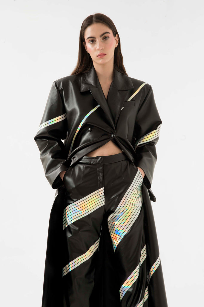 Faux leather space coat - Materiel