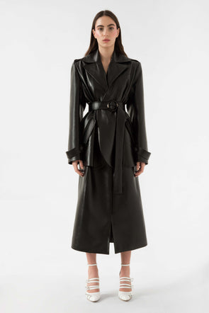 Faux leather trench coat by Materiel Tbilisi, available on materieltbilisi.com for $476 Kylie Jenner Outerwear SIMILAR PRODUCT