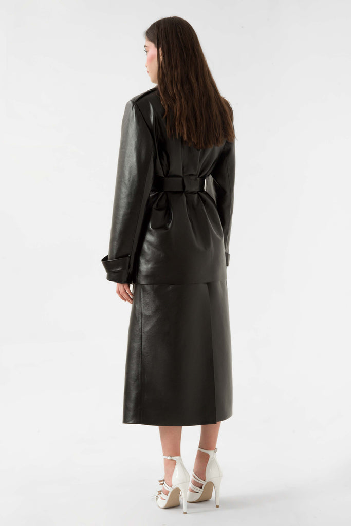 Faux leather trench coat - Materiel