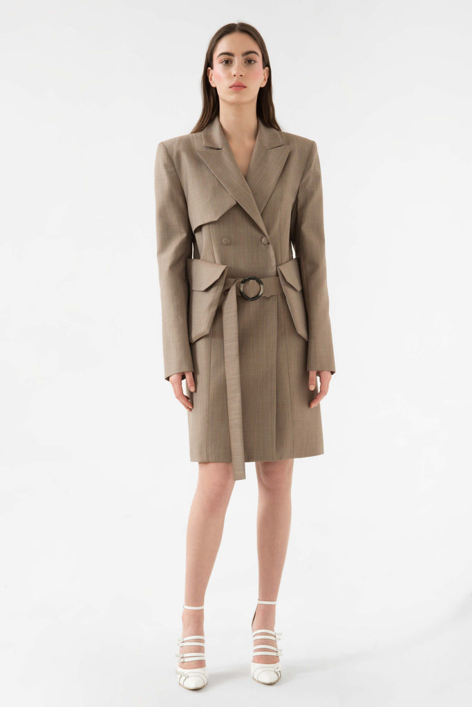 Short coat w/belt bag - Materiel