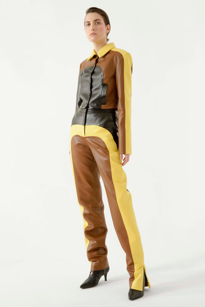 MULTI LEATHER PANTS - Materiel