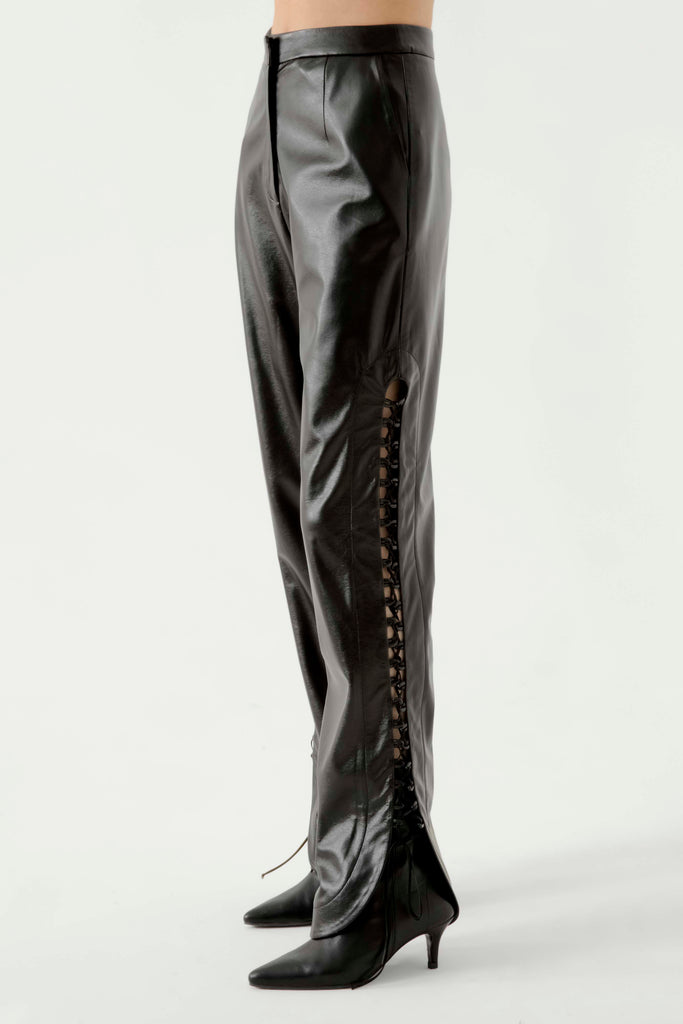Lace up leather pants - Materiel