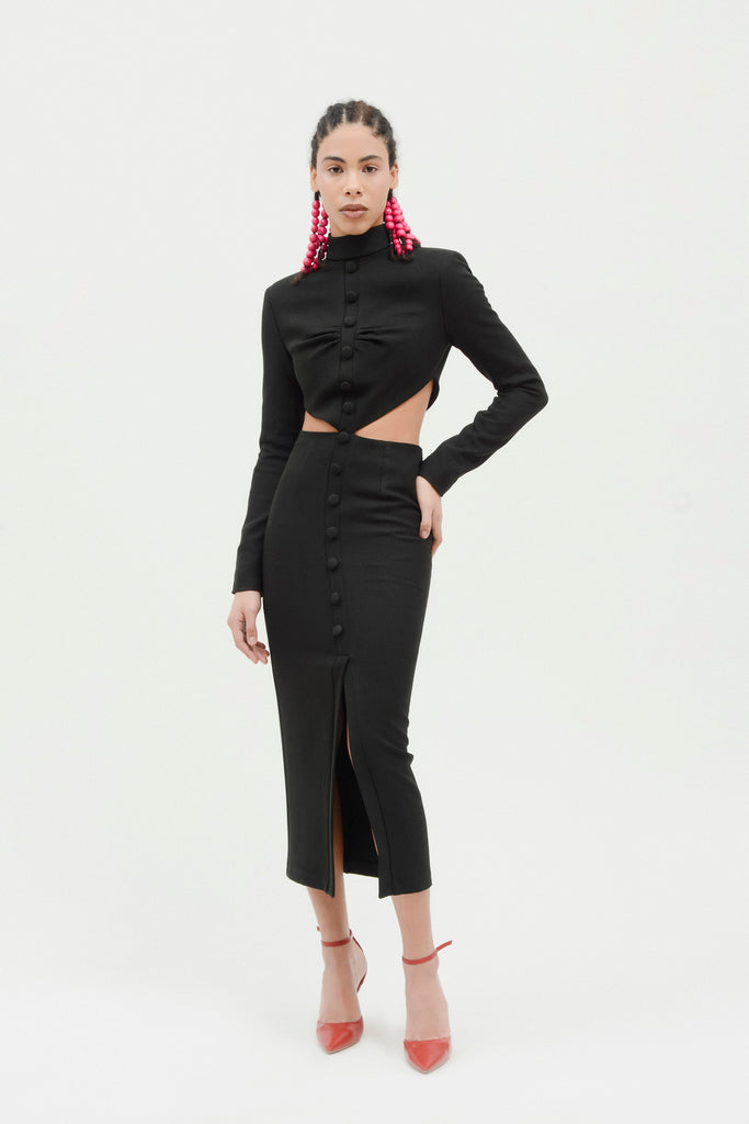 Fitted dress w/ side cutouts - Materiel
