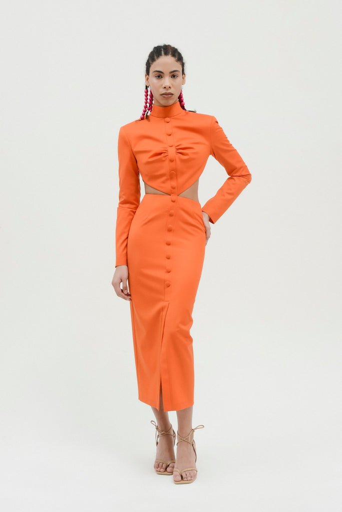 Fitted Dress w/side cut outs - Materiel