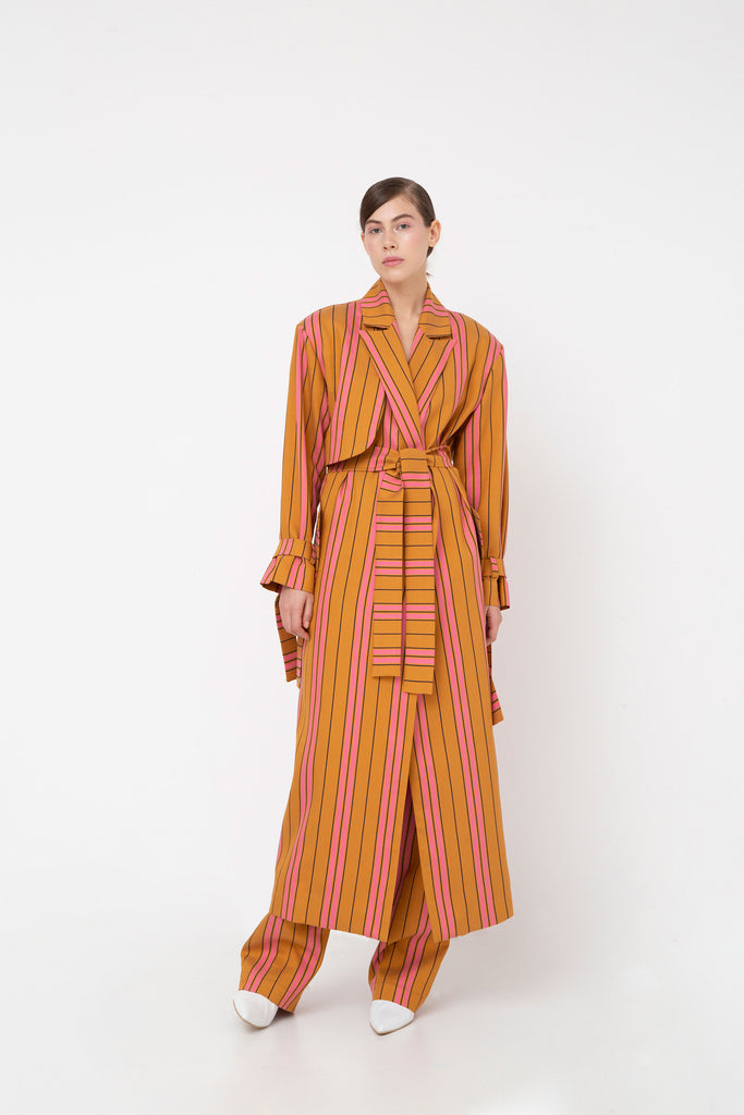 Striped trench coat - Materiel