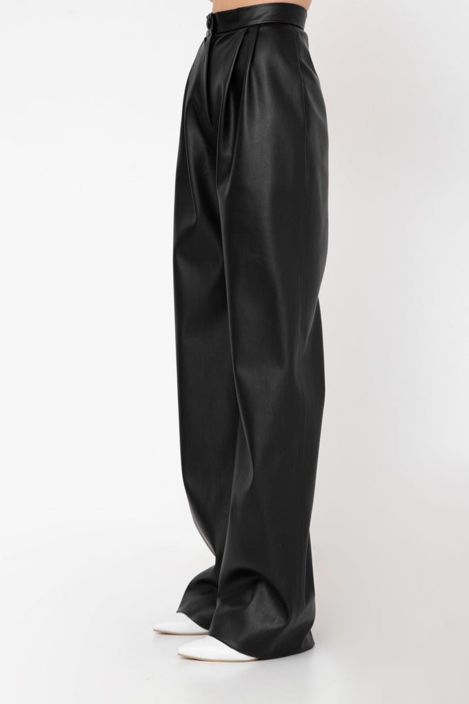 Faux leather high waist pants - Materiel