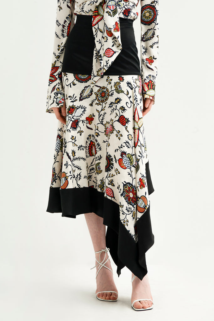 Floral asymmetrical dress - Materiel