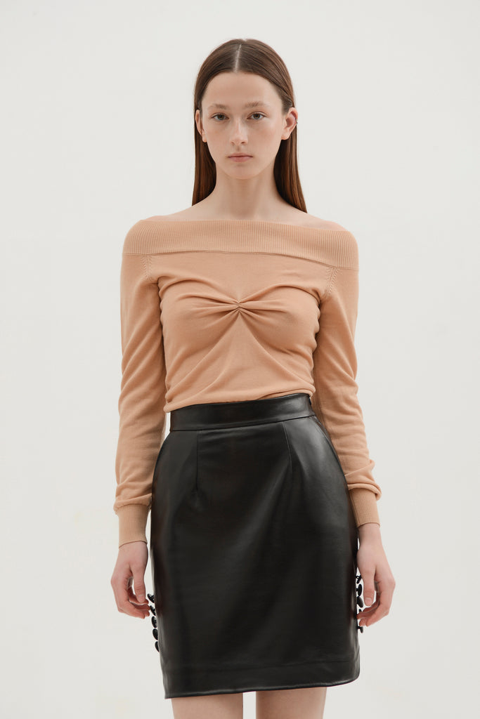 Faux leather mini skirt - Materiel