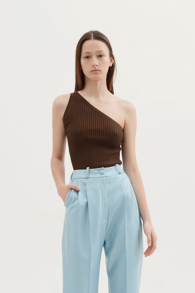 Knitted one shoulder top - Materiel