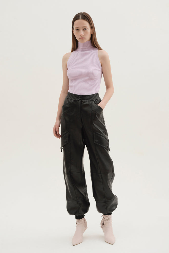 Faux leather cargo pants - Materiel