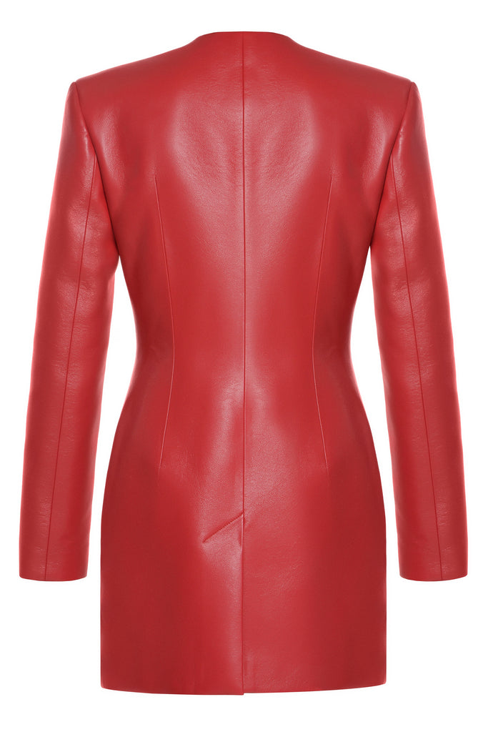 Faux Leather Wave Blazer - Materiel