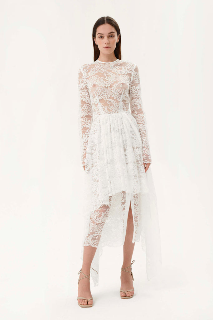 LACE MULTI PANEL GOWN - Materiel