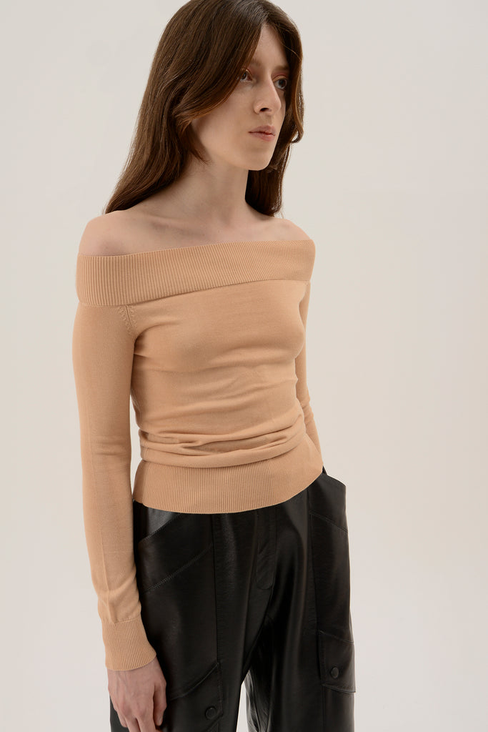 Knitted off shoulder top - Materiel