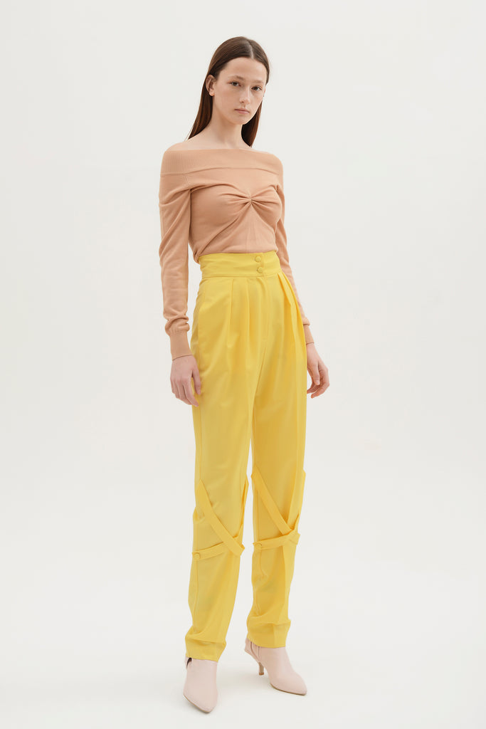 High waist pants w/straps - Materiel