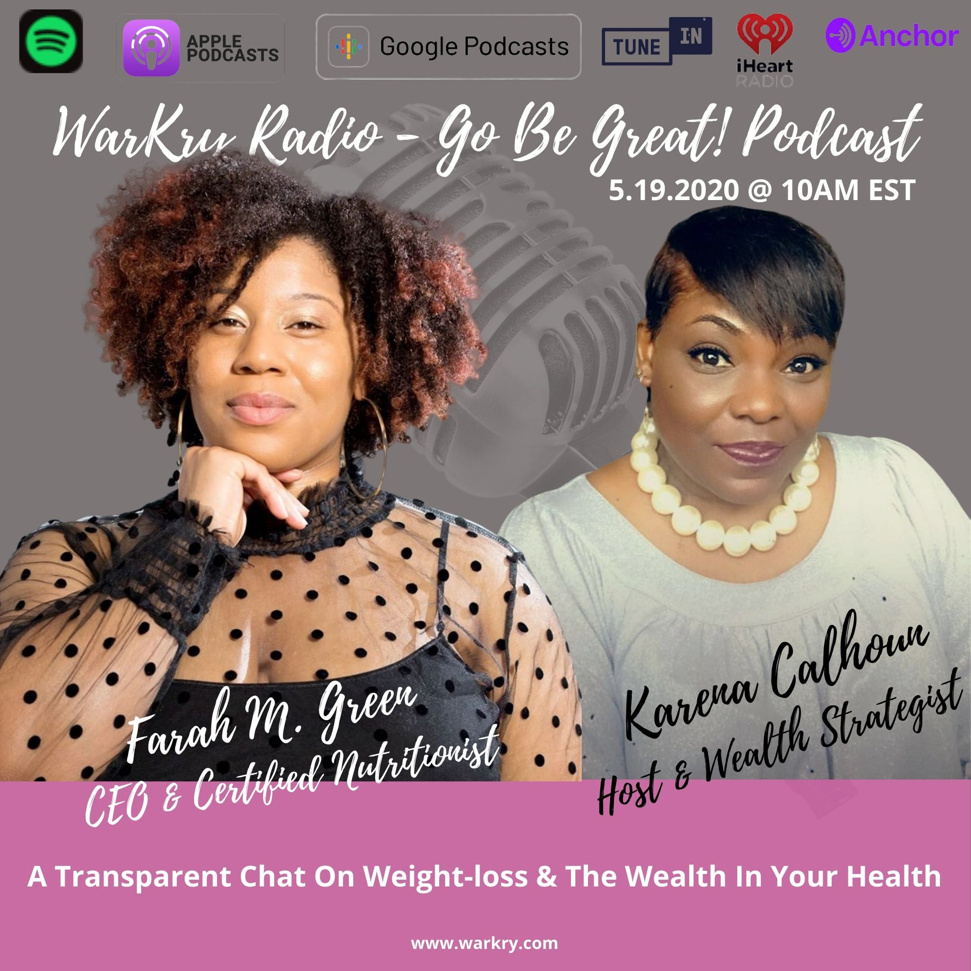 Transparent Fireside Chat On Weight Loss And Finding The Wealth In Your Health