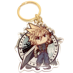 Wolf & Cloud KeyCharm