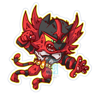 Incenaroar Sticker