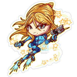Zero Suit Samus Sticker