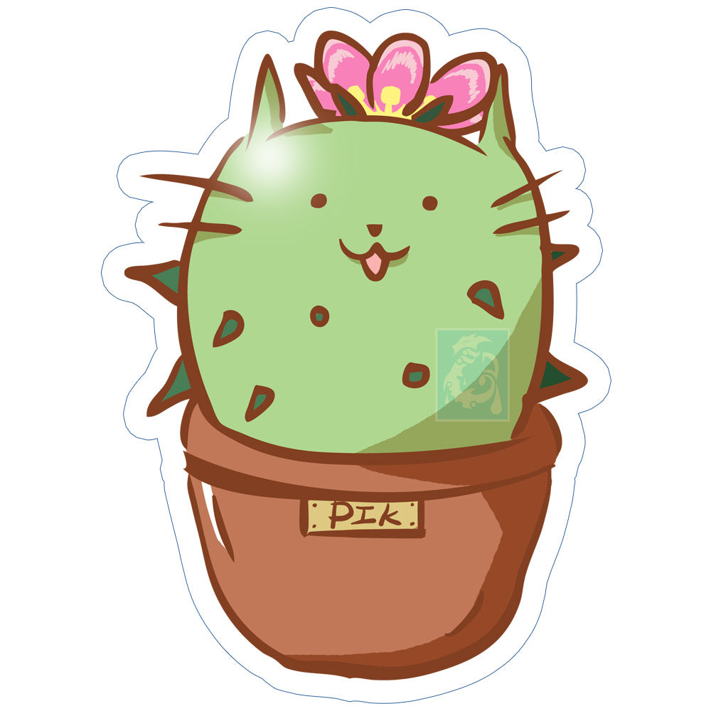 Pik the Cactus Sticker