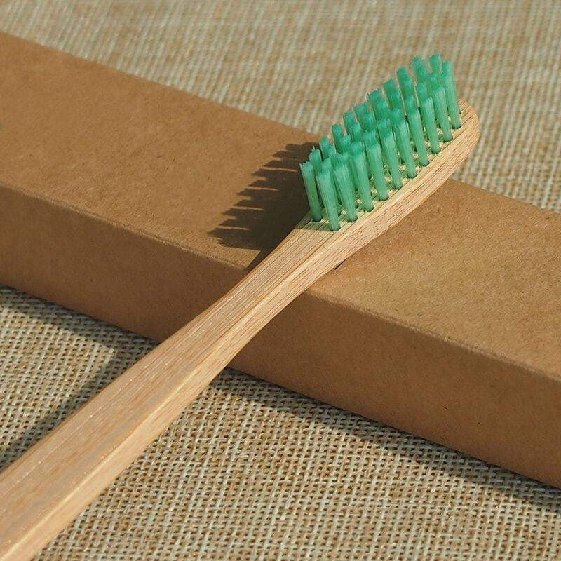 Lime Bamboo Wood Toothbrush - Pro Charcoal