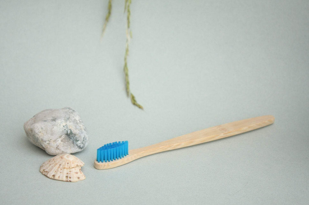 Ocean Blue Bamboo Wood Toothbrush - Pro Charcoal