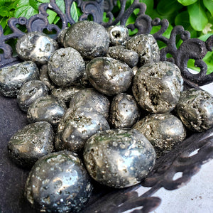 Tumbled Iron Pyrite