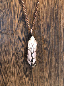 Wrapped Tree/Stone Necklace
