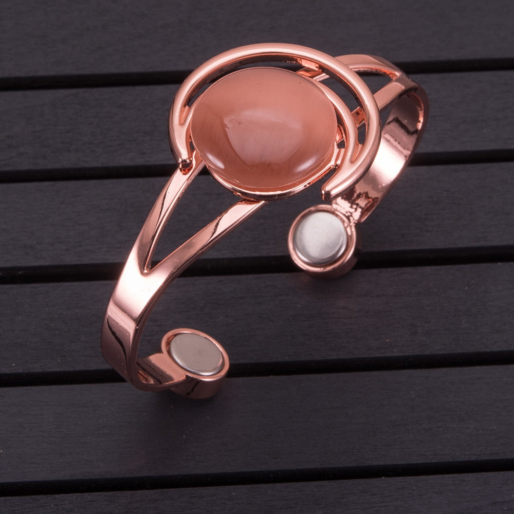 Pure-Copper-Magnetic-Therapy-Adjustable-Bracelet-Bangle-For-Women