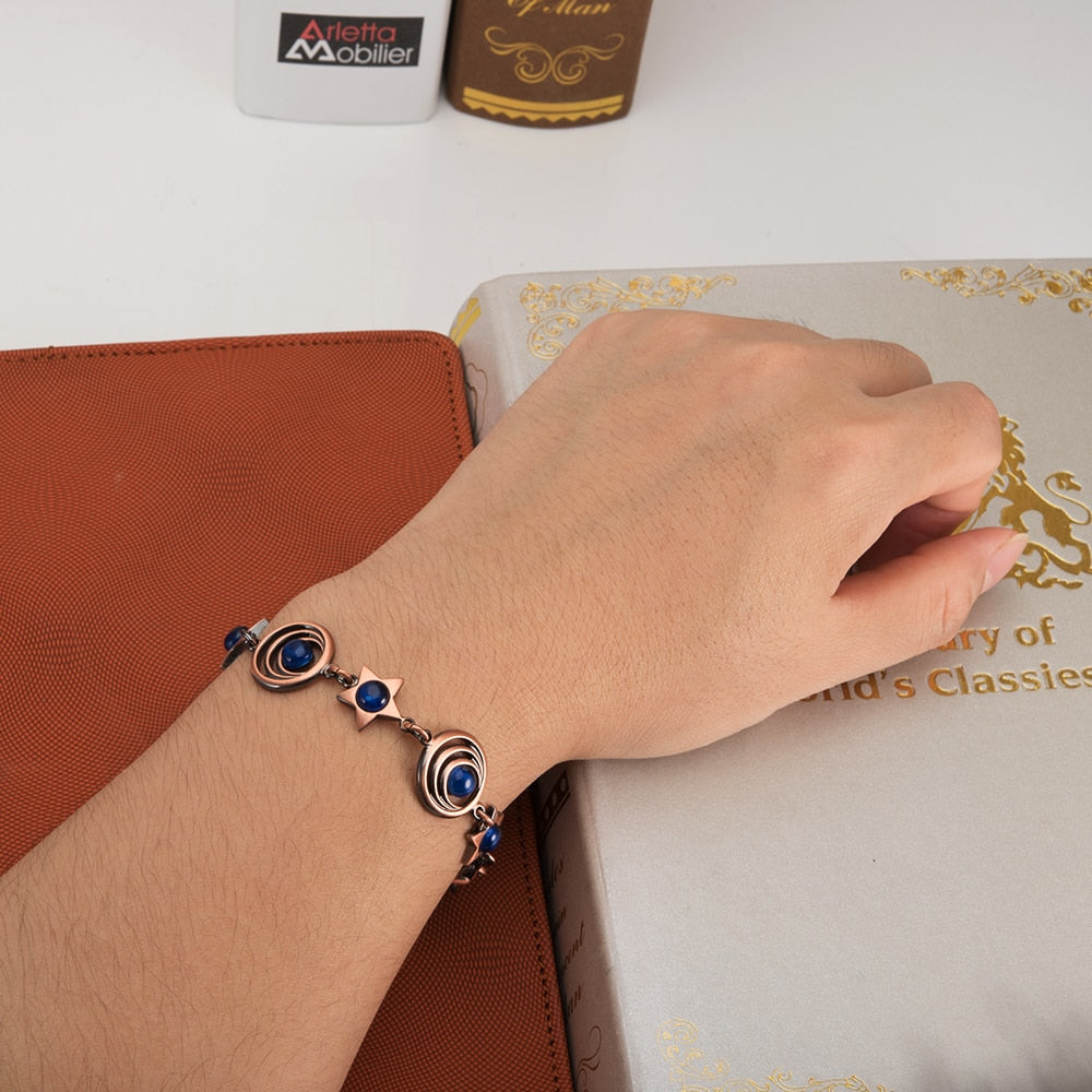 Elegant-Copper-Bracelet-Magnetic-Therapy-For-Women
