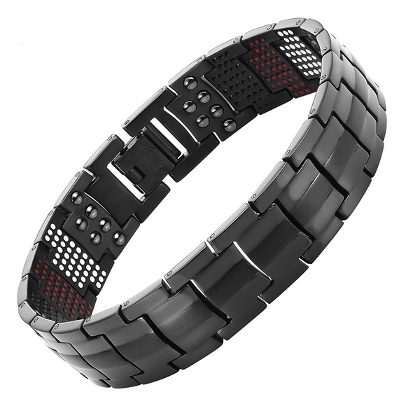 Wellness-Magnetic-Titanium-Bracelet-For-Men