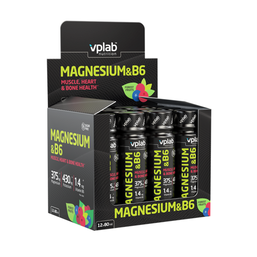 VPLAB Magnesium & B6 Shot (12 x 80 ml)